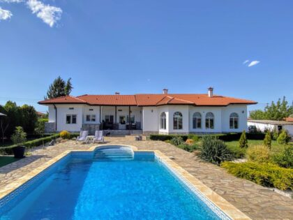 * Sold * Beautiful one-storey house with pool, just outside Dobrich city, 25min to beach